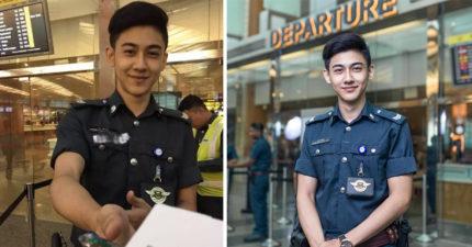 世界各地女孩為了這位「超帥機場輔警」都想飛去新加坡了!機場還大方公開他在哪個航廈!