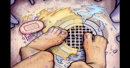8大「為什麼你必須要一邊洗澡一邊尿尿」的重要原因。#4治療香港腳喔!