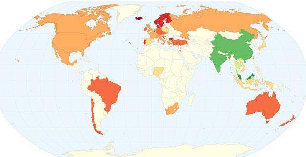 這是世界各地「平均破處年齡」排名,台灣的平均年齡是亞洲最年輕...