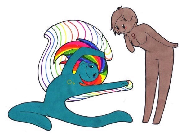 用人類來模擬「13種動物的複雜性關係」就會變成這樣。這種動物「男男愛愛」竟然是因為女友喜歡看!腐女無誤...