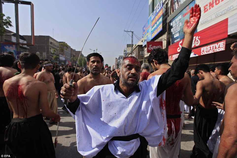 Shiite Muslims around the world attend mourning processions a ahead of the commemoration of Ashura. The practice of devotees whipping and cutting themselves has divided Muslim leaders
