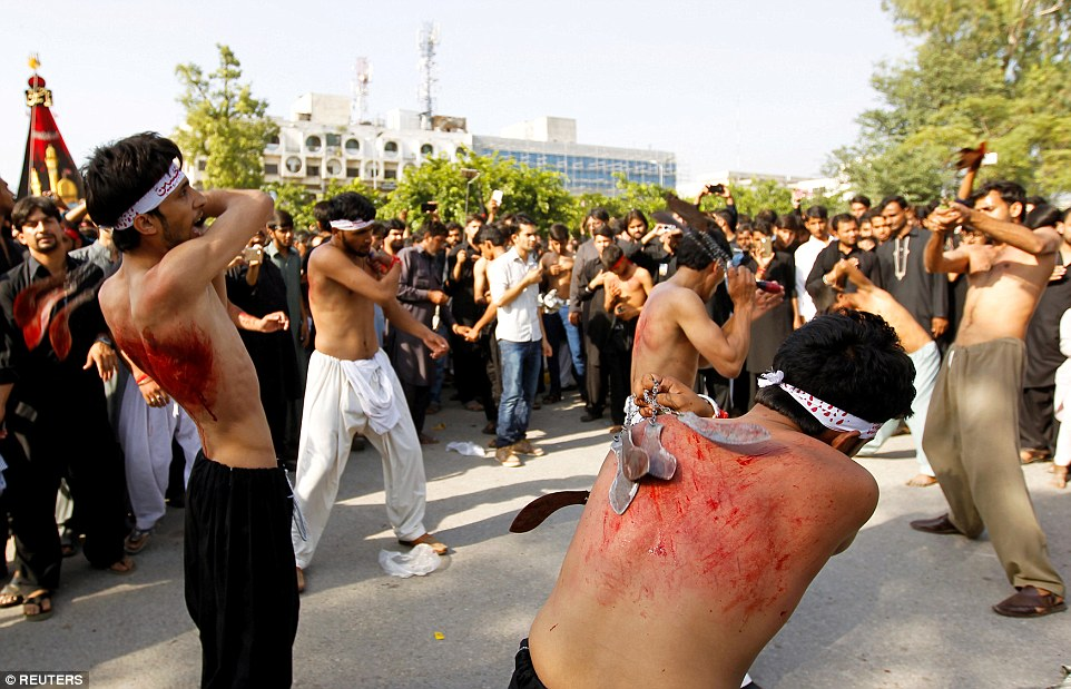 The tradition of blood-letting in the run up to Ashura is seen by some as a way of washing away their sins