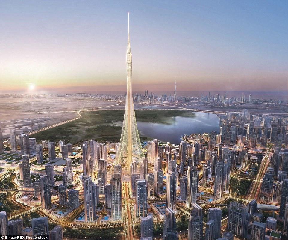 杜拜已經是「全球最高828公尺建築」紀錄保持者,但他們又準備蓋一座「1公里」最狂高塔來超越自己了!