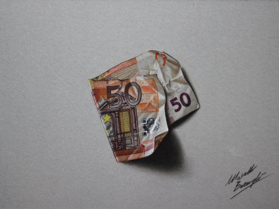 Marcello Barenghi - Colored pencils, pens, and watercolors on pasteboard