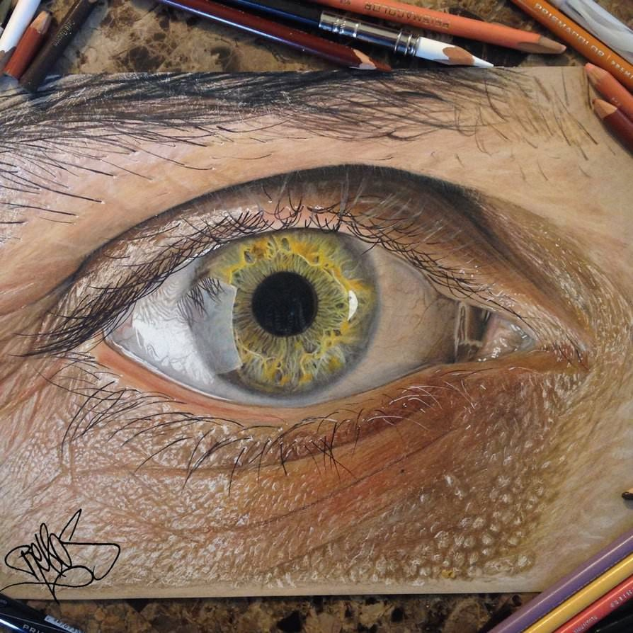 Redosking - Colored pencils