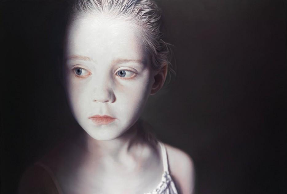 Gottfried Helnwein - Oil and acrylic on canvas