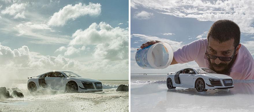 奧迪付500萬元請他拍最新跑車的宣傳海報,他「只花1200元」就拍出這些帥爆的照片!