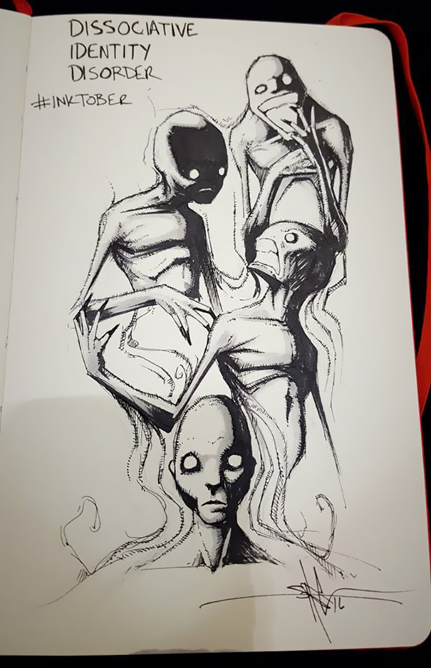 18張能讓大家能更了解「精神病患感受」的黑暗系畫作