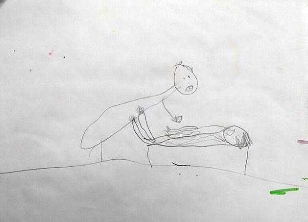 5歲女童突然不敢去上學讓爸媽十分不解,在她房間裡發現「6幅令人心碎猥.褻塗鴉」...