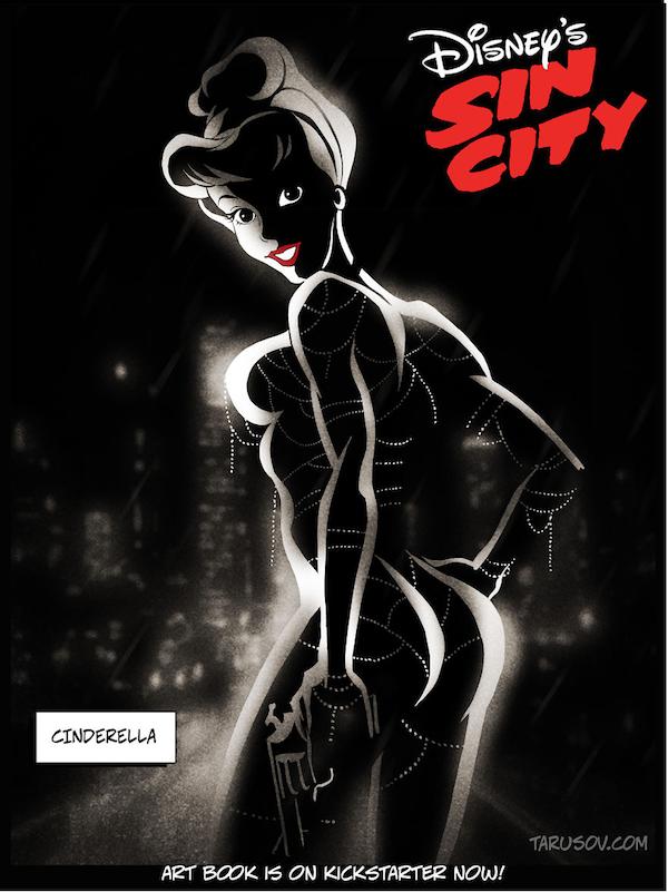 10個變成《罪恶之城》版本的「性感暗黑迪士尼公主」。艾莎太18禁了!