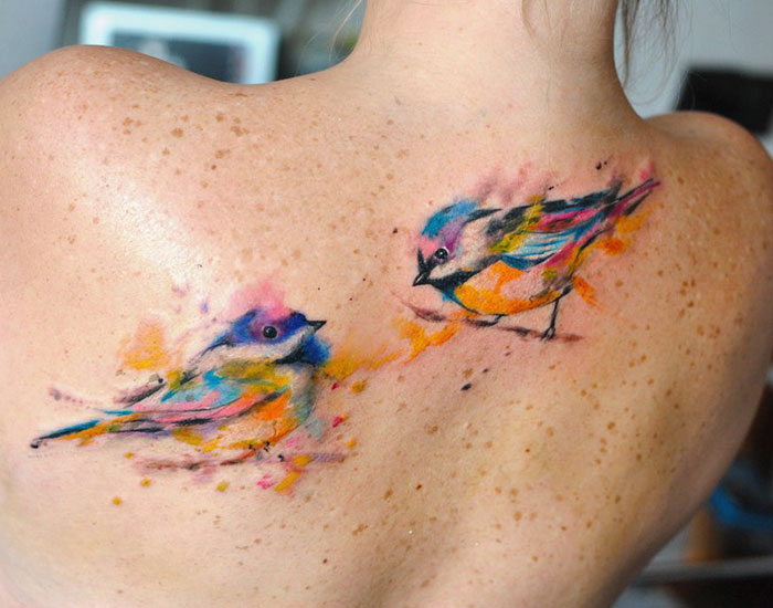 36張「光看到就能感覺到自由」的超美鳥系紋身圖樣