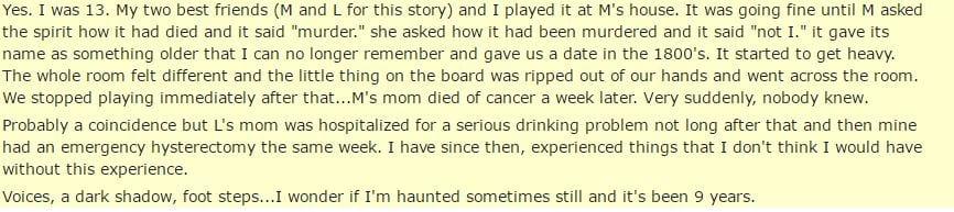 國外網友分享他們「玩碟仙」遇過最毛骨悚然的經驗。絕對不能問「這個問題」!
