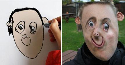 29張爸爸將自己6歲兒子的畫「P到真實事物」的超爆笑照片!