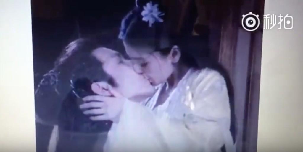 Angelababy與鍾漢良的超「男上女下激情親吻」影片曝光,網友:「黃曉明看到會很不爽!」