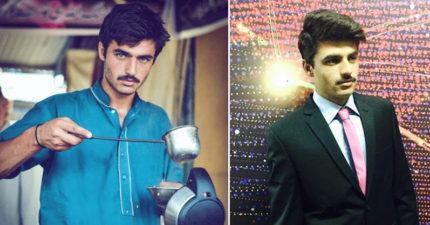 18歲茶販小鮮肉因為「一張藍眼睛帥照」瞬間爆紅成為模特兒,帥到網友說:「緩和了印度和巴基斯坦的矛盾!」