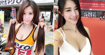 台灣正妹D奶車模上海參展罵「426」遭中國圍剿,她霸氣回嗆「還教起數學」讓網友高喊「女神」!