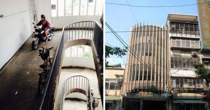 台北神奇無電梯公寓,想要上樓得直接一路騎上去,網友:「太屌了!」