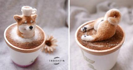 台灣新北市小藥師為達成夢想,靠自己的手製作「超真實萌系」羊毛氈杯蓋!屁股太犯規啦!