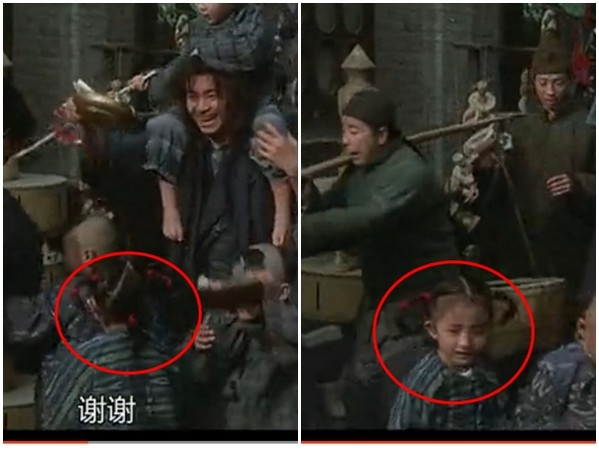 楊冪曾飾演過周星馳的女兒,就在大家都看過N遍的《武狀元蘇乞兒》中喔!就在這!
