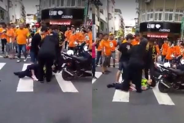 14歲少年無照騎車不爽把警察推倒連眼鏡都破了,還大罵「X你媽!不要像狗叫一樣!」