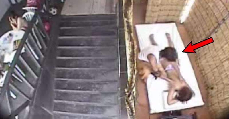 監視器拍到按摩師幫女客人按摩,影片到0:15就「兩人開始結合震動」過分兒童不宜!
