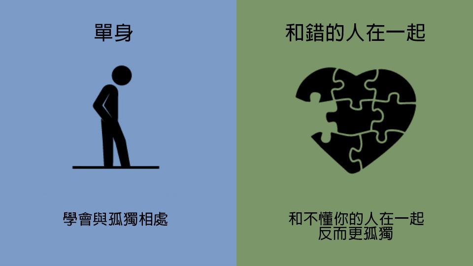 7張超中肯插畫證明寧願單身也不要跟錯的人在一起。