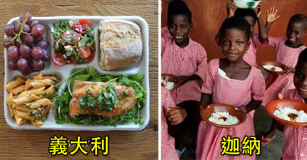 24個來自世界各地不同國家的「學校營養午餐」,看到肯亞真的覺得台灣小孩太幸福了!