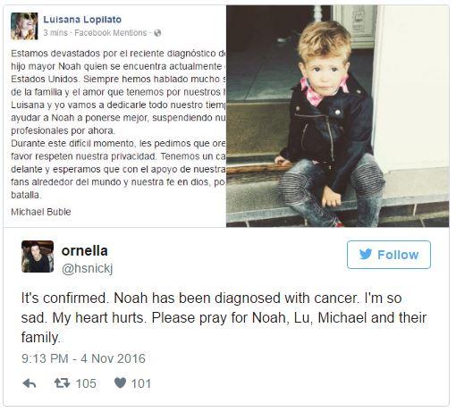 知名歌手麥可布雷證實「3歲愛子罹癌」,「堅強抗癌宣言」數十萬粉絲為一家人加油打氣!