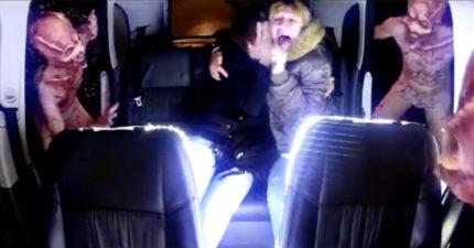 司機開到一半突然被白光帶走 「恐怖外星人惡作劇」把乘客嚇慘!