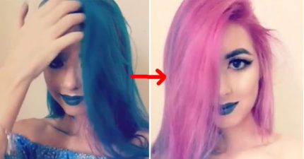單色染髮已經遜掉了!「一秒變色超炫雙染髮」讓全網路暴動了!