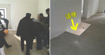 (非趣味) 中國新屋客廳破出大洞,62歲母親墜落「4公尺深」的地下室慘死。