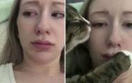 辣妹主人被色色貓「霸王硬上弓」,貓咪「噓~別出聲妳遲早是我的」表情好變態!