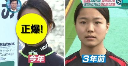 日本少女滑雪選手學會化妝完全「變超正」,男網友驚呼:「我也想學...」
