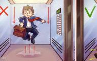 4個遇到「電梯墜落時」用邏輯絕對想不到的「正確自救方法」,#2直直站著超級危險!