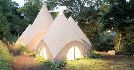 日本建築大師在林間蓋出這棟奇特建築,「超療癒螺旋形浴池」讓我瞬間想退休住進去了!