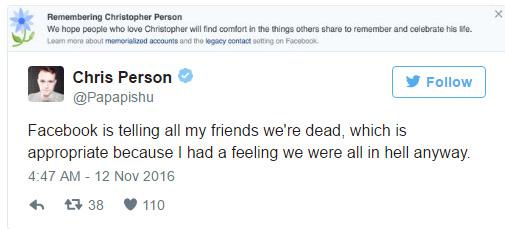 很多人怪臉書幫川普贏,結果昨天臉書「就把大家給弄死了」。