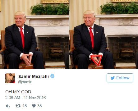 歐巴馬與川普在白宮首次會讓網友笑翻「像被媽媽強迫向對方道歉的小孩」!
