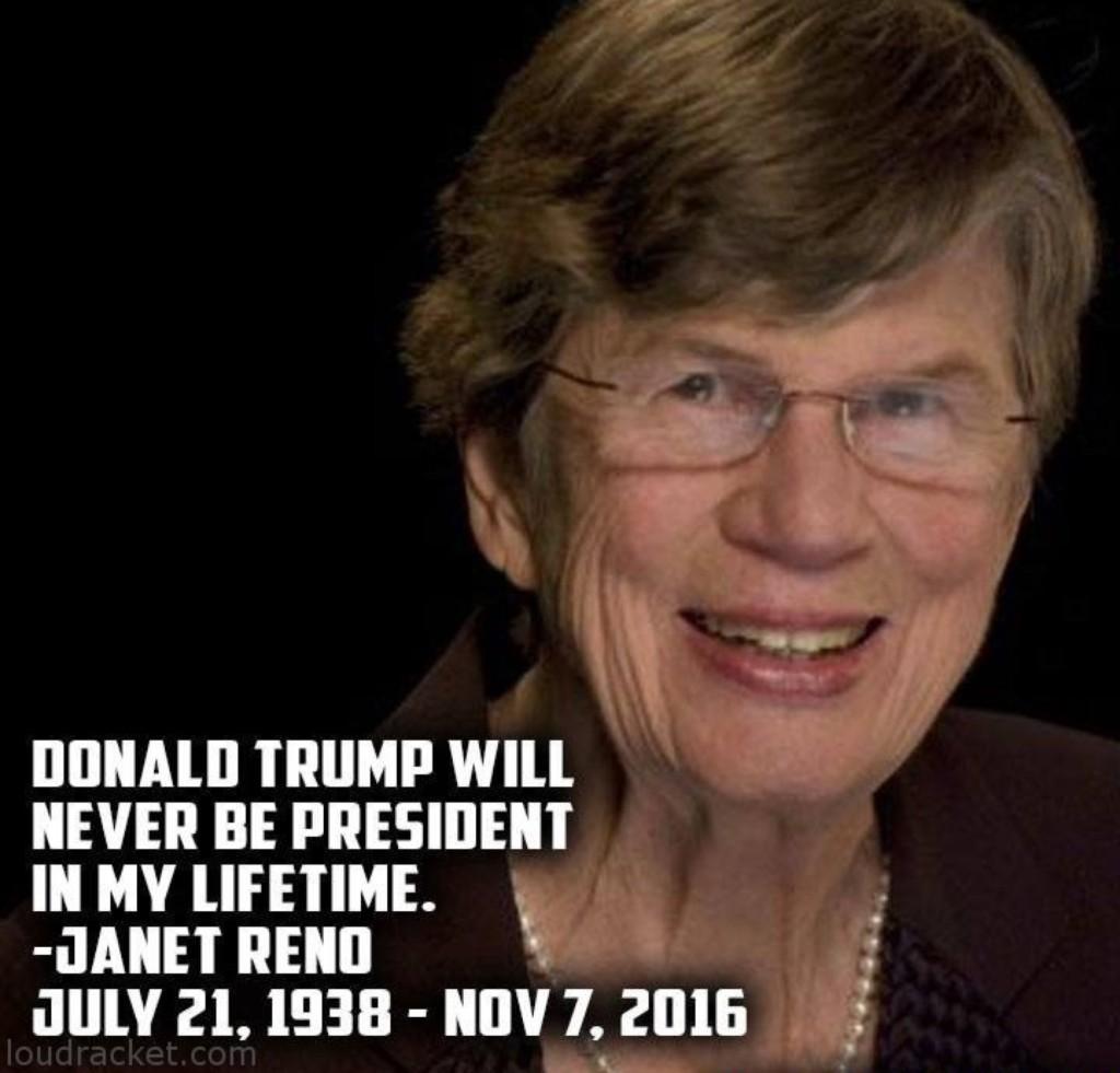 她曾說「川普在我有生之年不可能當選總統」,然後她就死了。