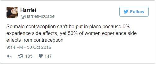 最新研發男性避孕藥因「6%男性出現心情不好副作用」緊急喊卡 !女網友:「我們忍受了50年」!