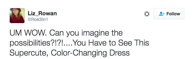 「超狂每秒變不同顏色」完美洋裝,以後你再也不用買衣服了!