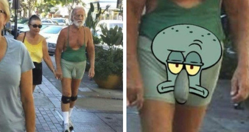 And Squidward in real life: