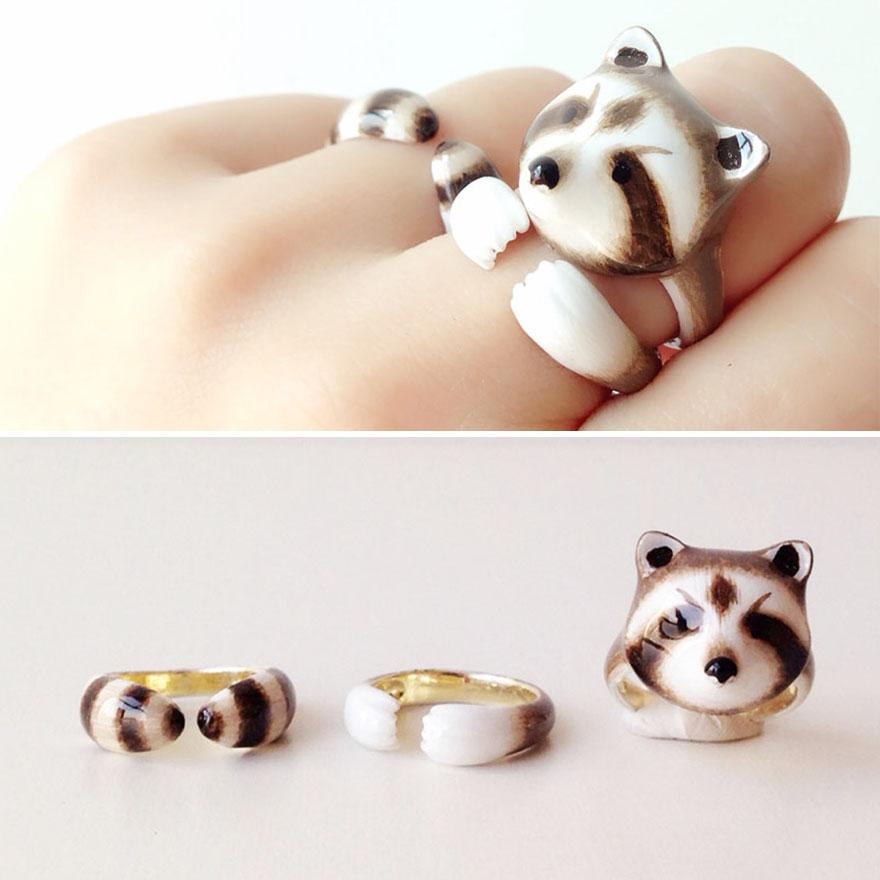 18款「只要結合就能把人萌翻」的「3只組合戒指」,小法鬥那個太可愛了!