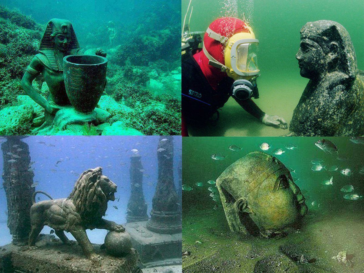 7大從未曝光「千年神秘海底古城」,#2埃及豔后皇宮太美了!