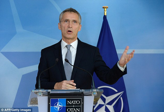 Alliance fractured: NATO Secretary General Jens Stoltenberg, pictured, will find that Trump is not convinced that the US should fund 70 per cent of the organisation's military budget