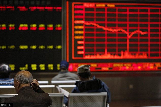 Tumble: Asian markets plunged following news of the victory by Donald Trump in a reflection of the uncertainty that his presidency will bring. However, China will welcome his election if it means a greater US withdrawal from its role as the 'world's policeman'