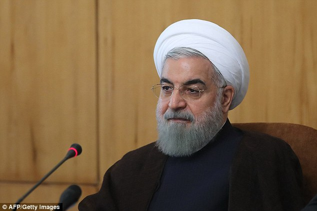 No going back: Iranian President Hassan Rouhani has said there is 'no possibility' of his nuclear deal with world powers being overturned by US president-elect Donald Trump despite his threat to rip it up