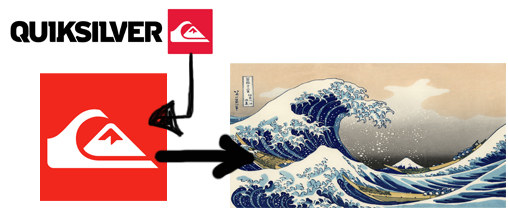 """Well, that's exactly why the red company logo depicts a stylized rendition of the woodcut """"The Great Wave off Kanagawa""""?"""