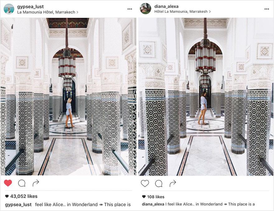 網紅情侶「旅游照片」被100%模仿 神複製「最小細節」網嚇壞:好毛!