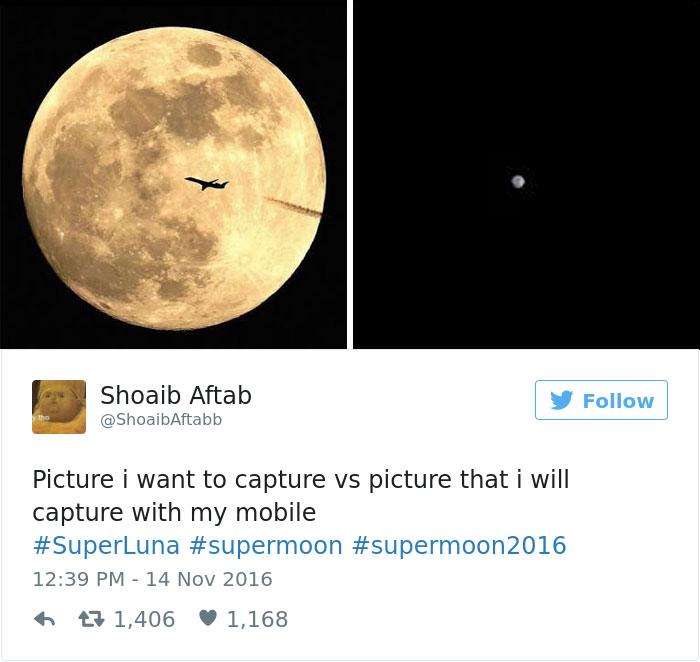 29張超爆笑對「超級月亮感到失望的人」的瞎眼反應照片 杜拜很有錢所以月亮比較近?