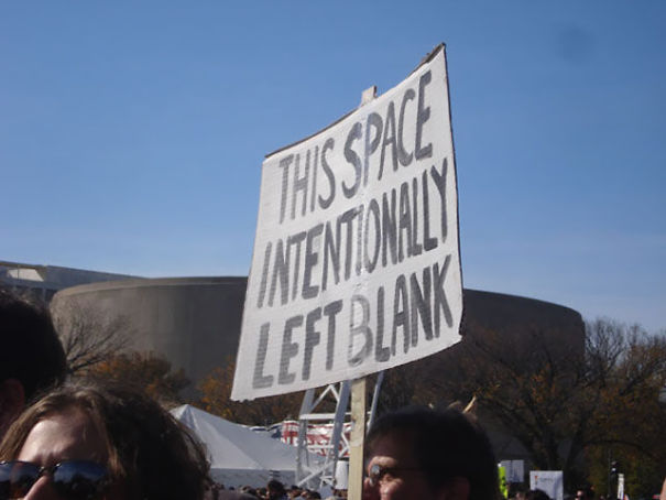 Funny Protest Sign